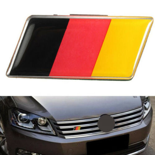 1PC Generic German Flag Grille Grill Emblem Badge Decal Sticker Fits BMW Audi VW