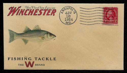 1920s Striped Bass Winchester Fishing Ad Reprint Collector/'s Envelope OP1354