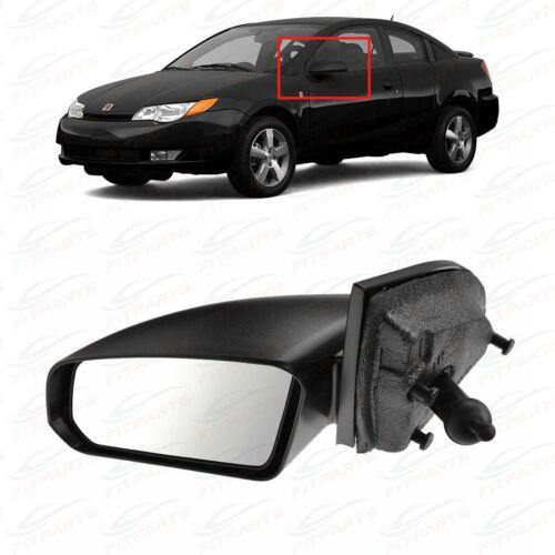 Fit System Passenger Side Mirror for Saturn Ion 3 Sedan Black Non-Foldaway Manual