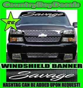 NEVER SATISFIED VERTICAL Windshield Vinyl Decal Sticker Truck Car Boost Turbo