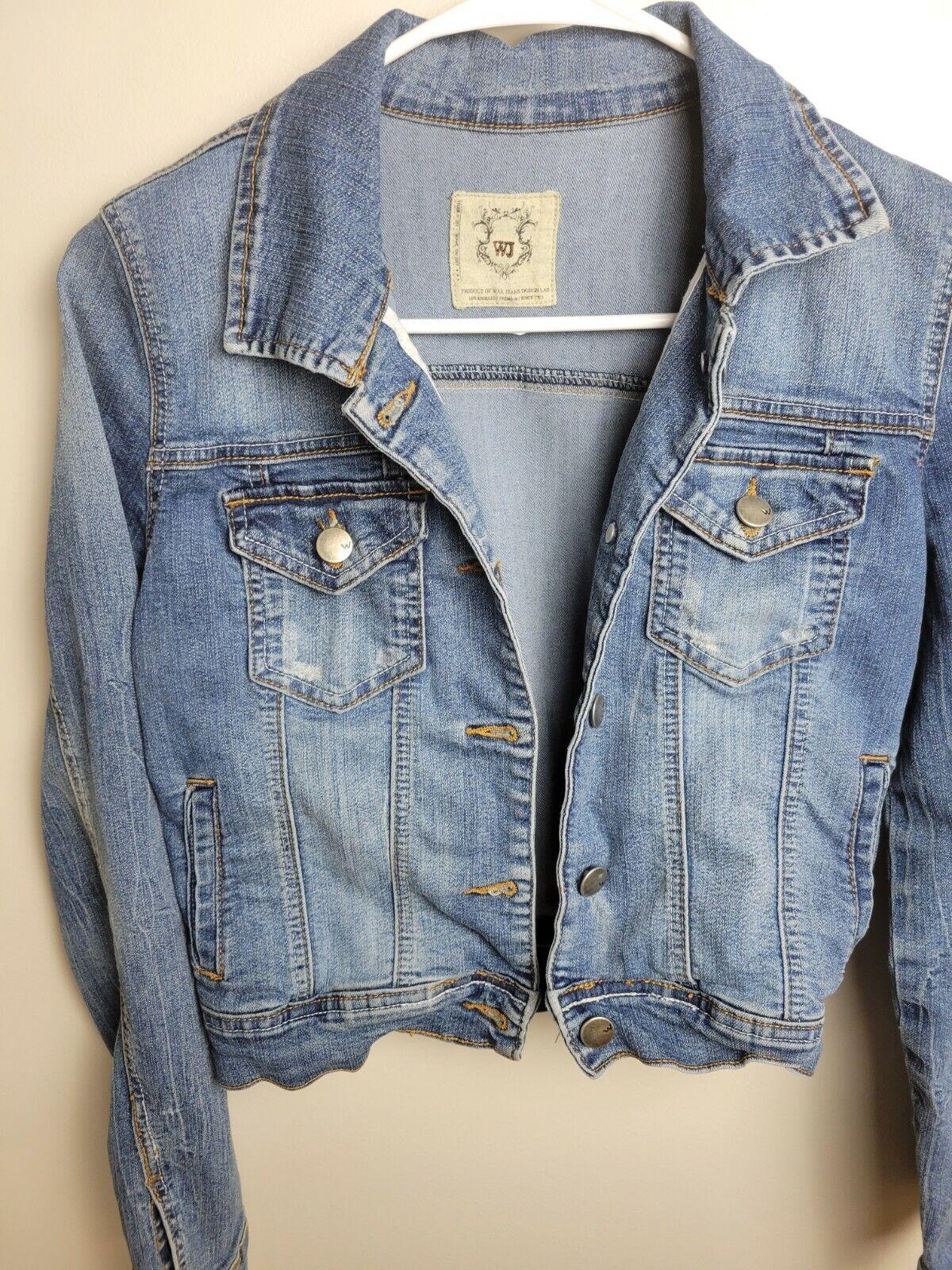 Womens Jean Jacket Small Wax Jeans - image 6