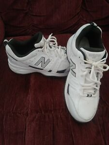 44ff275d4b49 NEW BALANCE 409 TRAINING MENS SIZE 7 WHITE  Gray FITNESS ATHLETICS ...