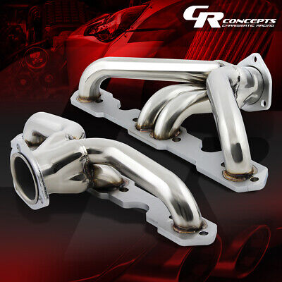 For 1955-1957 SBC Small Block TRI-5 Headers//Exhaust//Manifold Matte Black Coated
