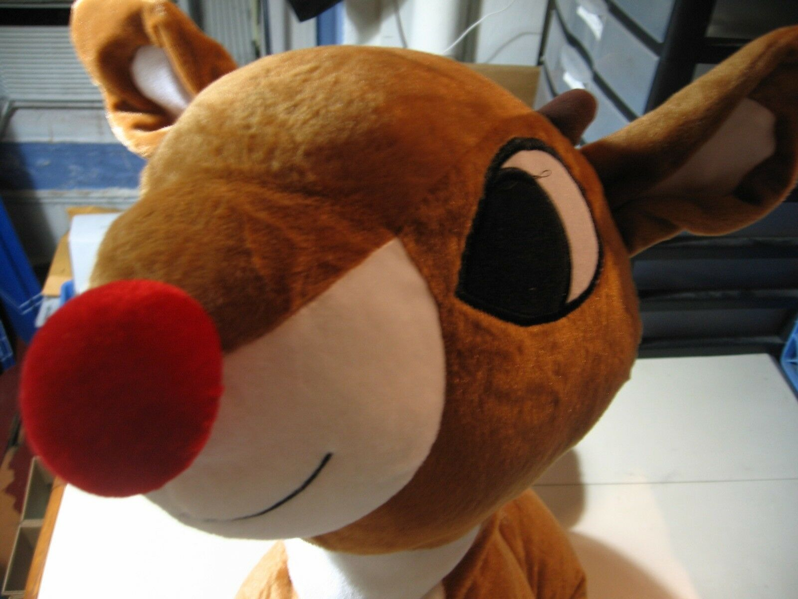 28  plush Rudolph the rosso Nosed Reindeer doll, good condition