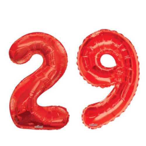 """Number 29 Red 34/"""" Balloon Birthday Party Decorations 29th Birthday"""