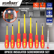 8pc Electricians Insulated Magnetic Electrical Hand Screwdriver Tool Set New