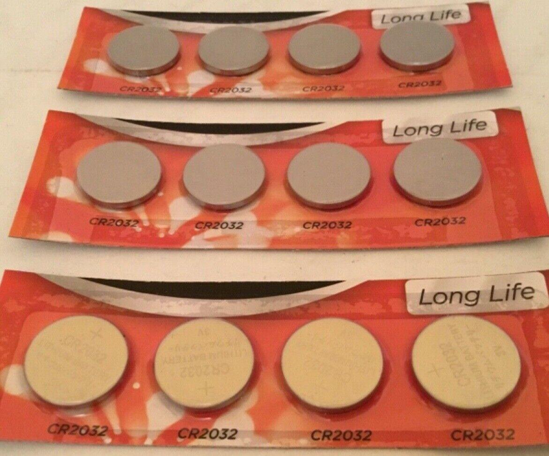 12 x Lithium 2032 Batteries Long Life