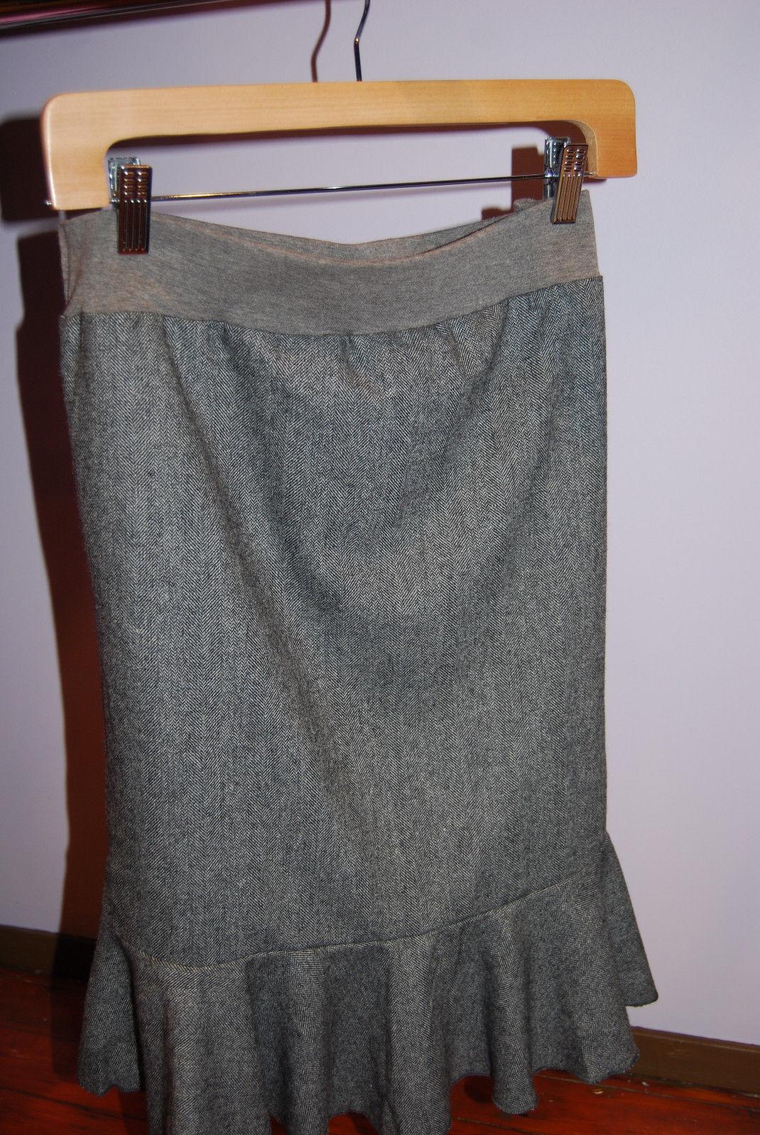 Dynashape-Grey-Maternity-Pencil-Skirt - Large - US 10-12