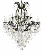 Claxy ecopower vintage wrought iron 10 lights chandelier with item 7 wrought iron chandelier crystal chandeliers lighting h50 x w36 wrought iron chandelier crystal chandeliers lighting h50 x w36 aloadofball Gallery