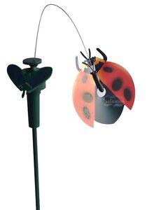 Image Is Loading SolarWholeSale 7004 Solar Dancing Fluttering Ladybug Garden  Decor