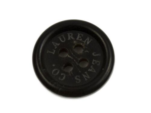 """Black Plastic Replacement button .70/"""" Ralph Lauren Jeans Co"""