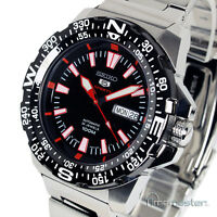 SEIKO 5 SPORTS AUTO BLACK FACE DIVERS STYLE SRP541J1