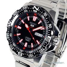 Seiko 5 Sports Automatico Nero Faccia stile subacquei srp541j1 srp541