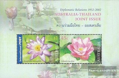Unmounted Mint Australia Block46 complete.issue. Never Hinged 2002 Thailand Making Things Convenient For The People