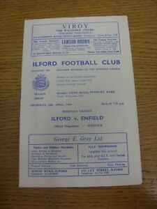 10-04-1969-Ilford-v-Enfield-Neat-Team-Changes-This-item-is-supplied-by-Foot