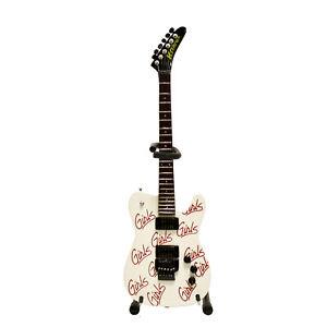 Motley Crue White Mick Mars Girls Mini Guitar Replica Model Gift Box Collectible