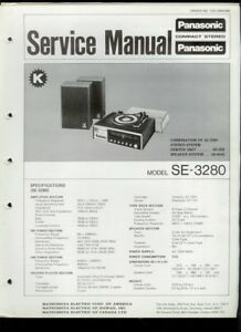 panasonic se 3280 am fm radio 8 track turntable factory service rh ebay com panasonic rd 2900 turntable manual Panasonic Turntable 1973