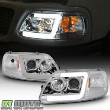 New 1997 2003 Ford F150 97 02 Expedition Led Tube Projector Headlights Headlamps Fits 1997 Ford F 150