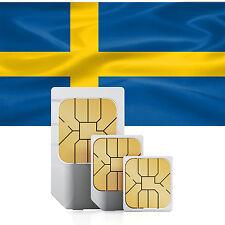 Schweden Daten SIM Karte + 1500 MB mobiles Internet für 30 Tage