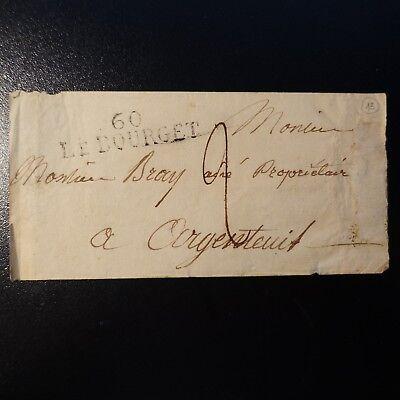1827 Lettre Cover Marque Postale 60 Le Bourget -> Argenteuil