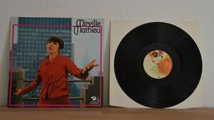 """Pers Original Autogramm Von Mireille Mathieu Vinyl 12"""" Platte Professionelles Design Gesammelt"""