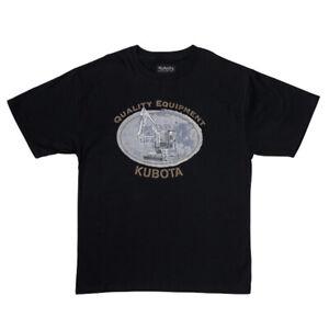 Kubota Branded Crew Neck Excavator Equipment Print T-shirt