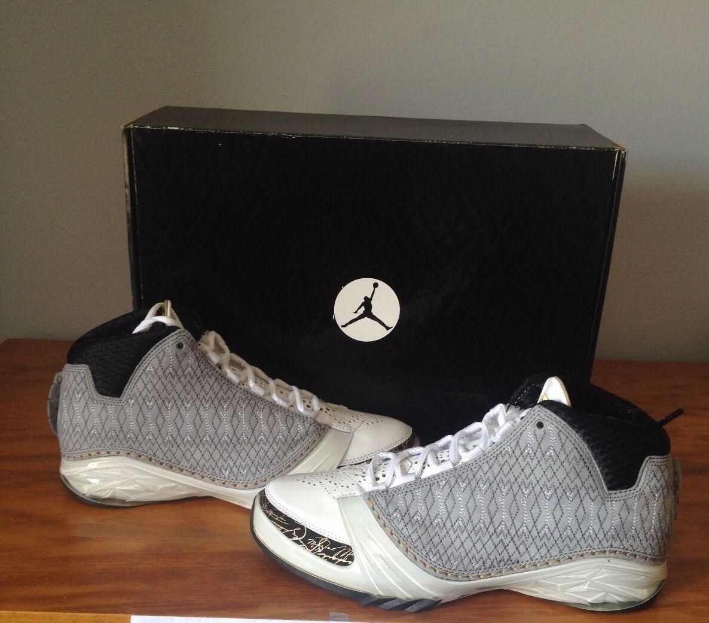 Nike Air Jordan 23 DEADSTOCK Stealth Grey and Gold Mens Size 8  RARE!!