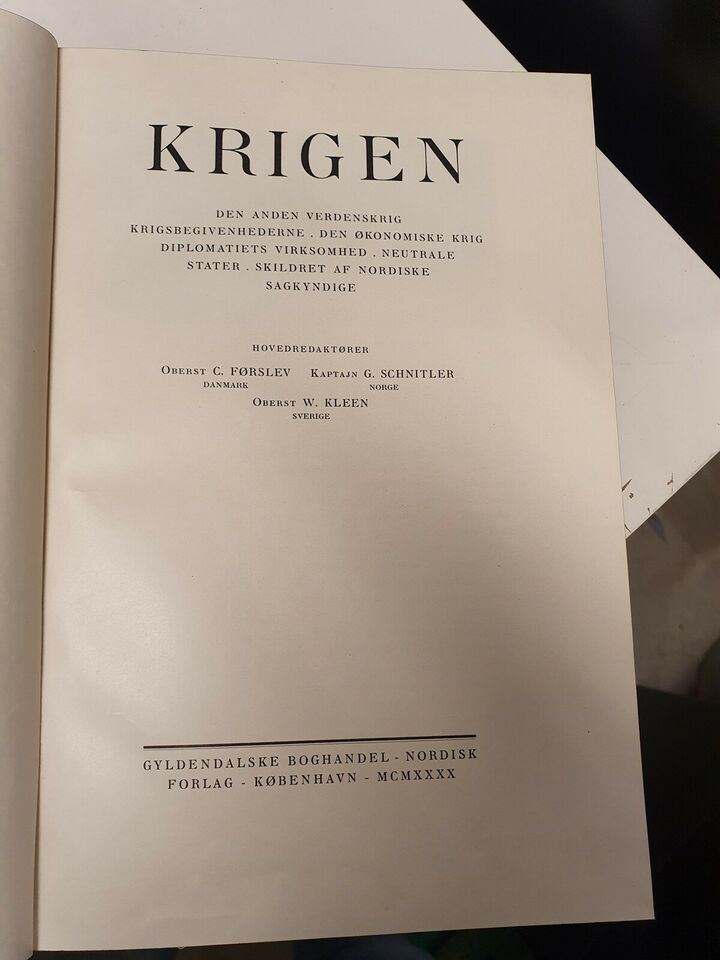 Krigen, Oberst C. Førslev, emne: historie og samfund