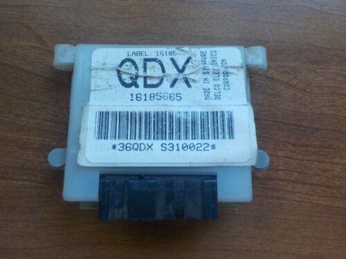 QDX 16185665 DRAC Module Computer Control Unit Speed Sensor Vehicle Buffer GM