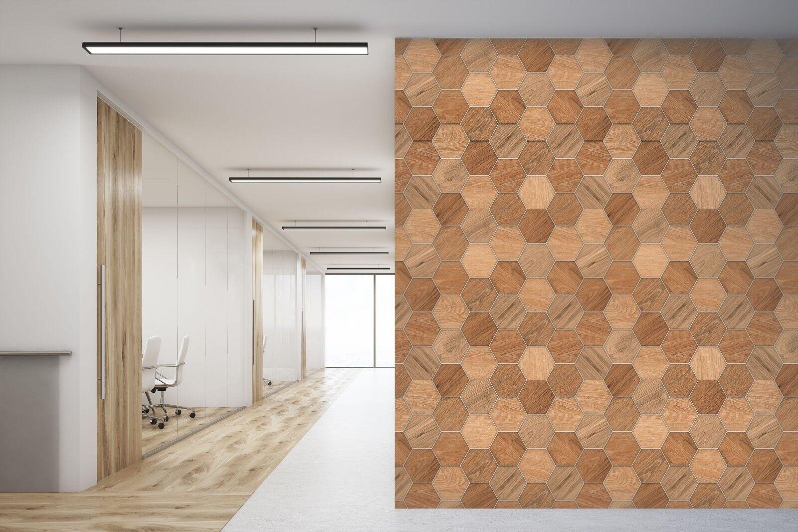 3D Hexagonal Board 673 Texture Tiles Marble Wall Paper Decal Wallpaper Mural