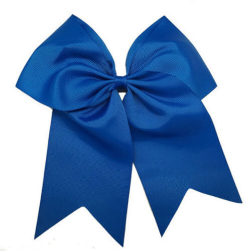 25colors 8 Inch Large Girls Women Elastic Bands Ribbon Cheer Bows Hair Accessory
