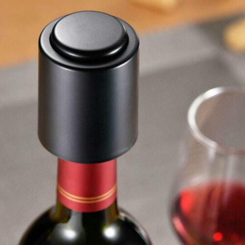 Wine Bottle Stopper Plug With Vacuum Seal Reusable Pump Saver Fresh Sealer H9J9