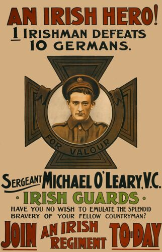 WW1 An Irish Hero Poster Print