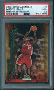 2003-04 Upper Deck Freshman Season LeBron James Rookie #5 PSA 7.5