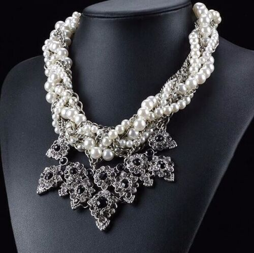 Charm Betsey Johnson Fashion Jewelry Multi-layer pearl banquet necklace