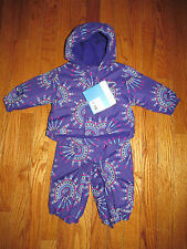 New Columbia Infant Girls 3-6M Purple Fresh Pow Snowsuit Jacket & Pants Set