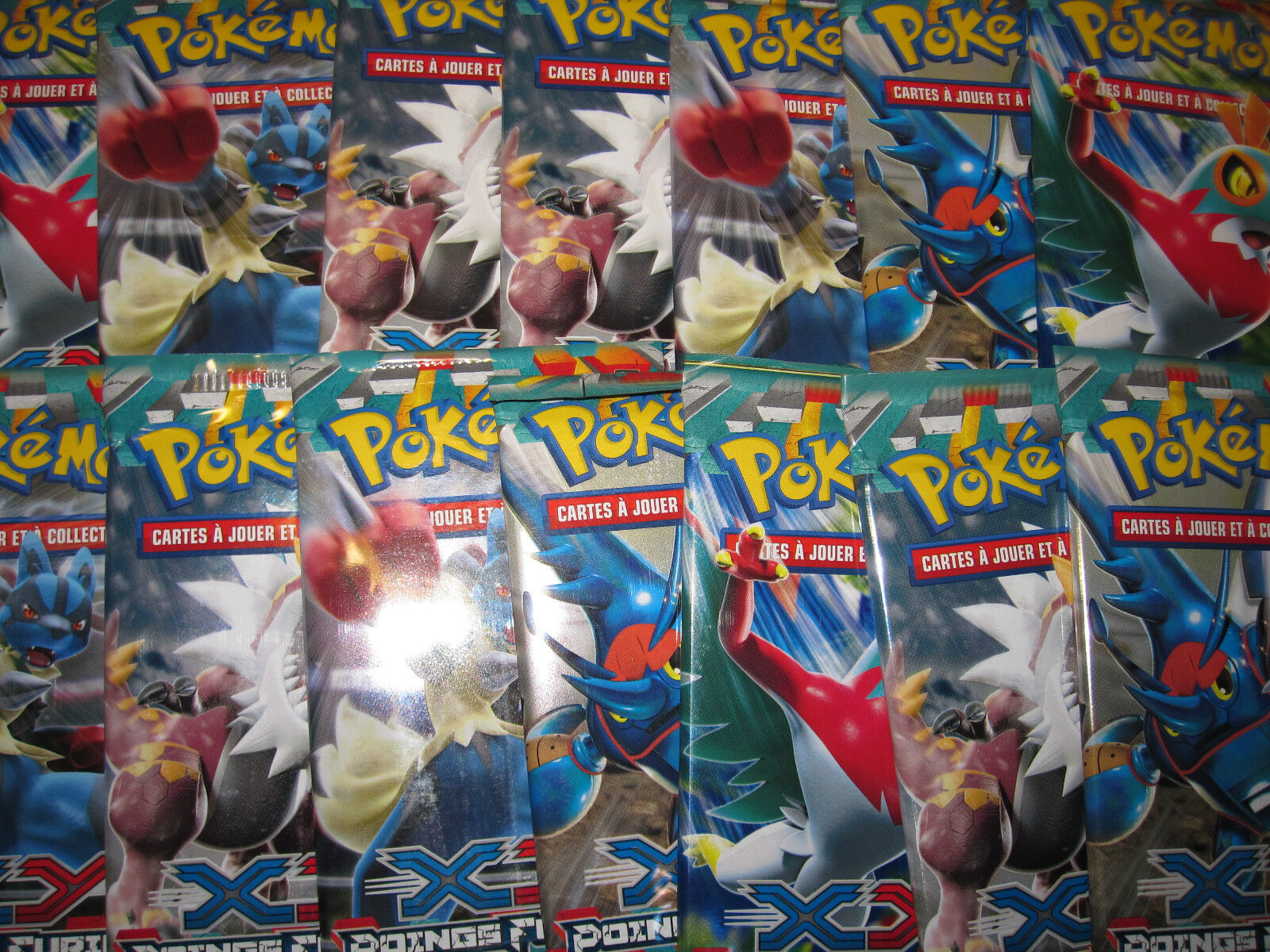 Pokemon  lot 14 booster seal 140 cards  xy furious fists not tries new