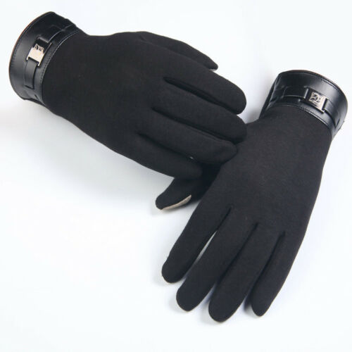 Winter Warm Mens Full Finger Smartphone Touch Screen Cashmere Gloves Mittens