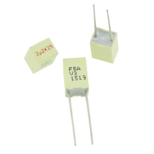 20x MKT-Kondensator radial 2,2µF 25V DC ; RM5 ; F5AHC4220ZAA7K ; 2,2uF