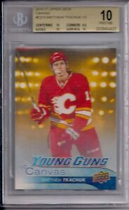 16-17-Upper-Deck-Canvas-Young-Guns-Matthew-Tkachuk-BGS-10-Pristine-5
