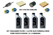 KIT FILTRI TAGLIANDO + OLIO FORD 5W30 FORD FIESTA 5 FUSION 1.2 1.4 BENZINA 16v