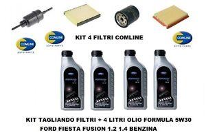 kit filtri tagliando olio ford 5w30 ford fiesta 5 fusion. Black Bedroom Furniture Sets. Home Design Ideas