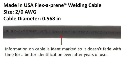 15 FEET EACH LEAD 500 Amp Welding Leads Set Terminal Lug Connector 2//0 cable