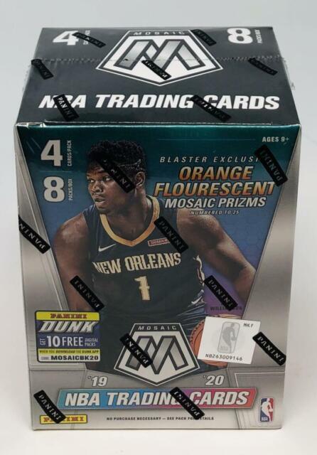 2019-20 Panini Mosaic Orange Flourescent  Basketball Blaster Box