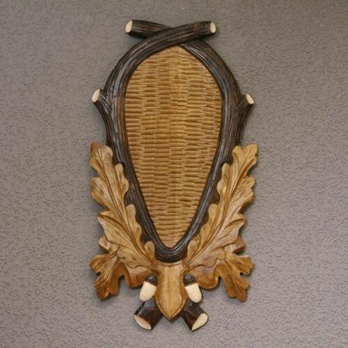 Trophäenschild tallada para grandes rothirsch cuernos de venado Hirsch cuerna escudo