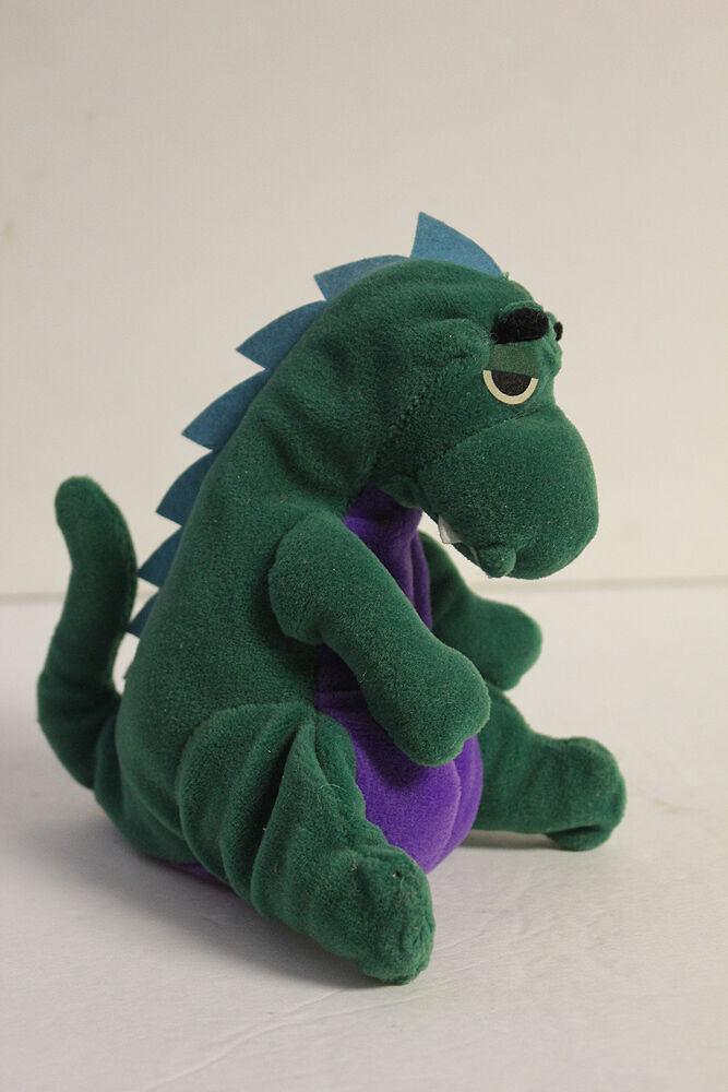 NETSCAPE Mozilla verde Dinosaur Mascot Soft Plush Stuffed Toy rare beanie baby