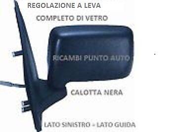 SPECCHIO RETROVISORE A LEVA SINISTRO 80090 FORD FIESTA COURIER 1989 - 1995