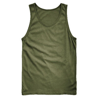 73e1fbd18f6c2 Details about ARMY VEST COMBAT MEN TANK TOP MILITARY US FASHION FANCY DRESS  SLEEVELESS OLIVE
