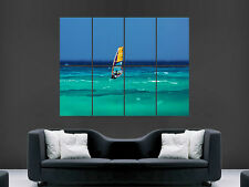 WINDSURFING  SEA SPORT  ART WALL PICTURE POSTER  GIANT HUGE !!!