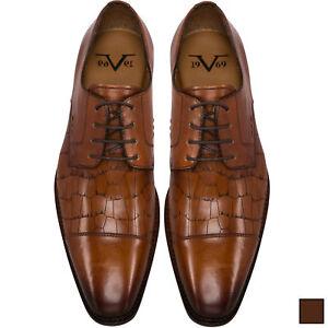 Details zu 19V69 Versace 1969 Leder Business Schuhe, Herren (V48)